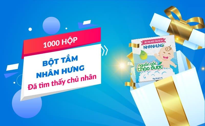 1000 HỘP BỘT TẮM NHÂN HƯNG ĐÃ TÌM THẤY CHỦ NHÂN