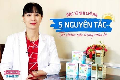Bác sĩ Nhi chỉ ra 5 nguyên tắc trị chàm sữa trong mùa hè